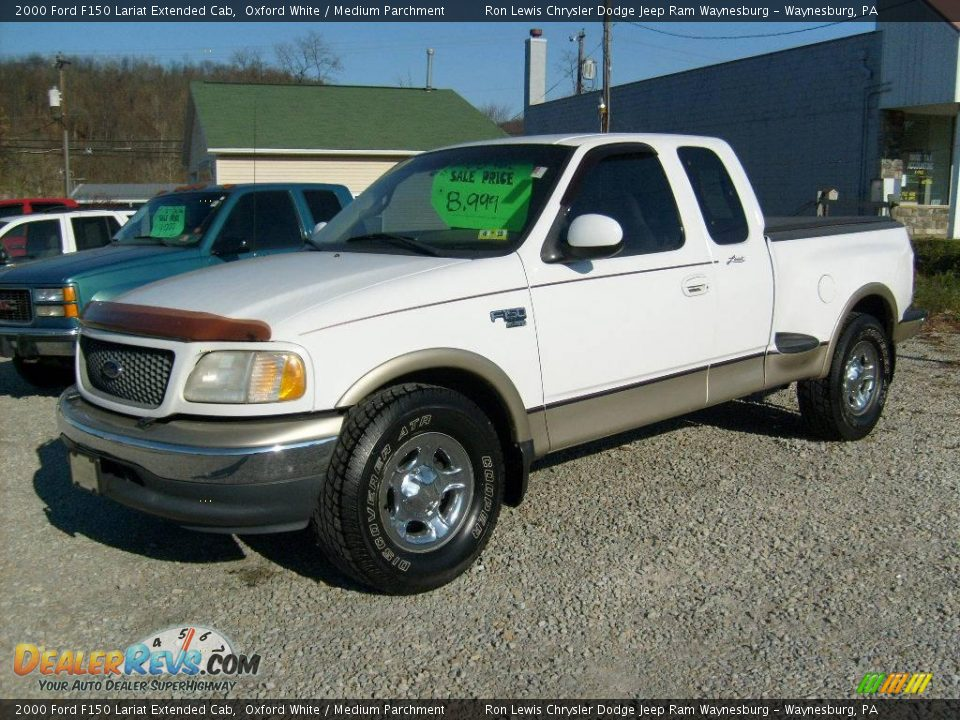 2000 Ford F150 Lariat 2000 Ford F150 Lariat Extended Cab Oxford White / Medium ...