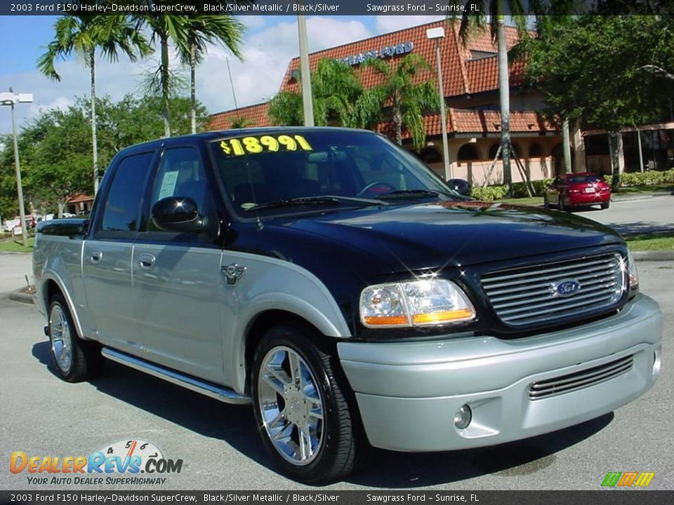2003 Ford F150 For Sale >> 2003 Ford F150 Harley-Davidson SuperCrew Black/Silver Metallic / Black/Silver Photo #1 ...