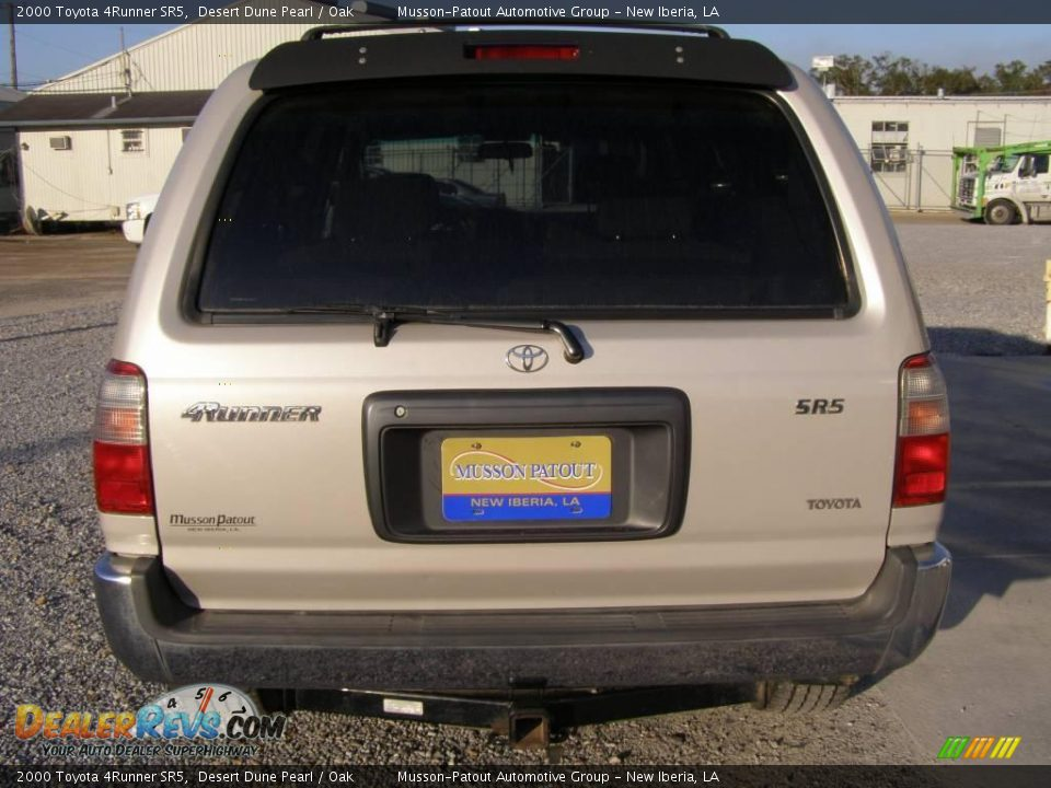 2000 Toyota 4runner Sr5 Desert Dune Pearl Oak Photo 4