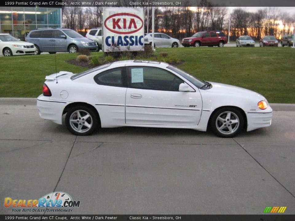1999 pontiac grand am gt coupe arctic white dark pewter photo 8 dealerrevs com dealerrevs com