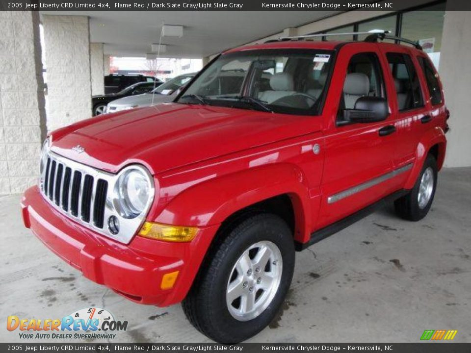 2005 Jeep Liberty Crd Limited 4x4 Flame Red Dark Slate Graylight