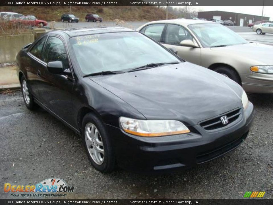2001 honda accord ex v6 coupe nighthawk black pearl charcoal photo 1. Black Bedroom Furniture Sets. Home Design Ideas