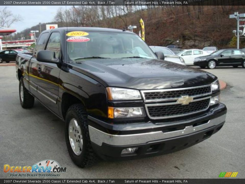 2007 chevrolet silverado 1500 classic lt extended cab 4x4 black tan photo 5. Black Bedroom Furniture Sets. Home Design Ideas