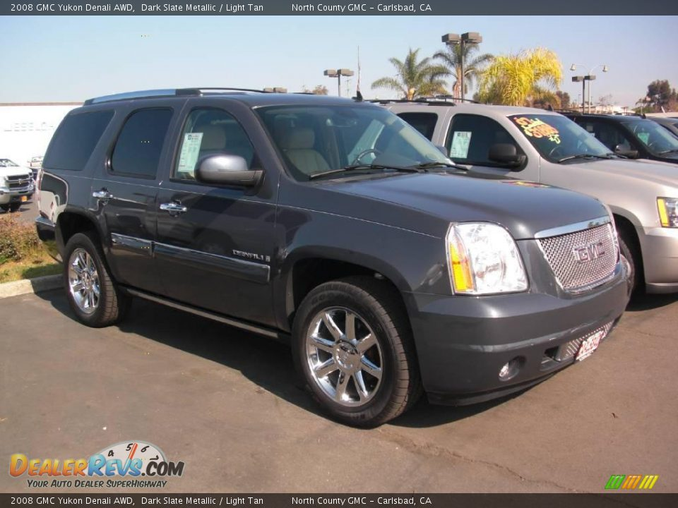 2008 Gmc Yukon Denali Awd Dark Slate Metallic Light Tan