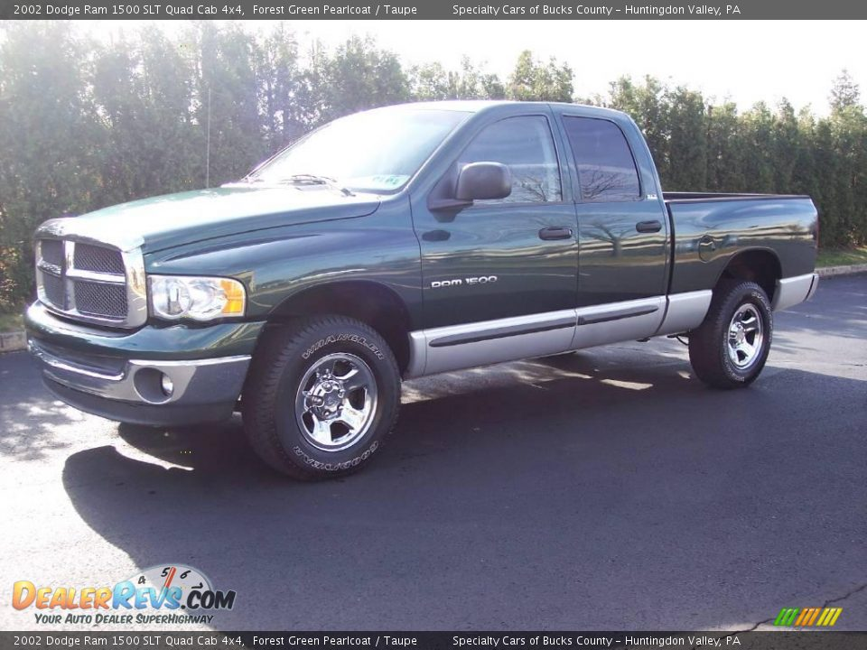 2002 dodge ram 1500 slt quad cab 4x4 forest green pearlcoat taupe photo 1. Black Bedroom Furniture Sets. Home Design Ideas