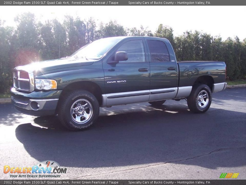 2002 dodge ram 1500 slt quad cab 4x4 forest green pearlcoat taupe photo 5. Black Bedroom Furniture Sets. Home Design Ideas