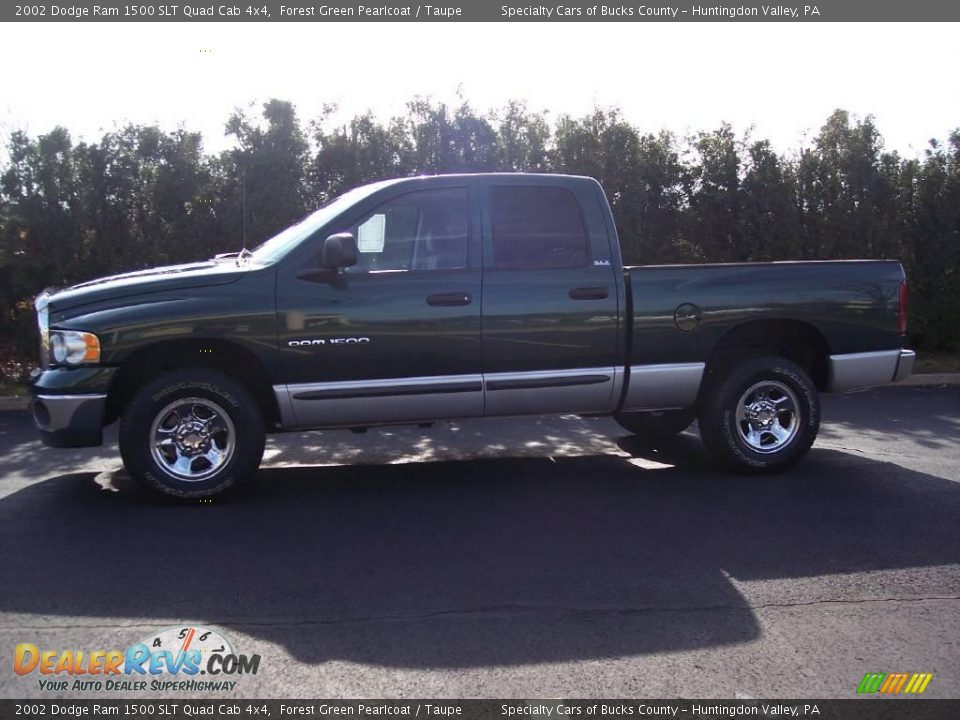 2002 dodge ram 1500 slt quad cab 4x4 forest green pearlcoat taupe photo 6. Black Bedroom Furniture Sets. Home Design Ideas
