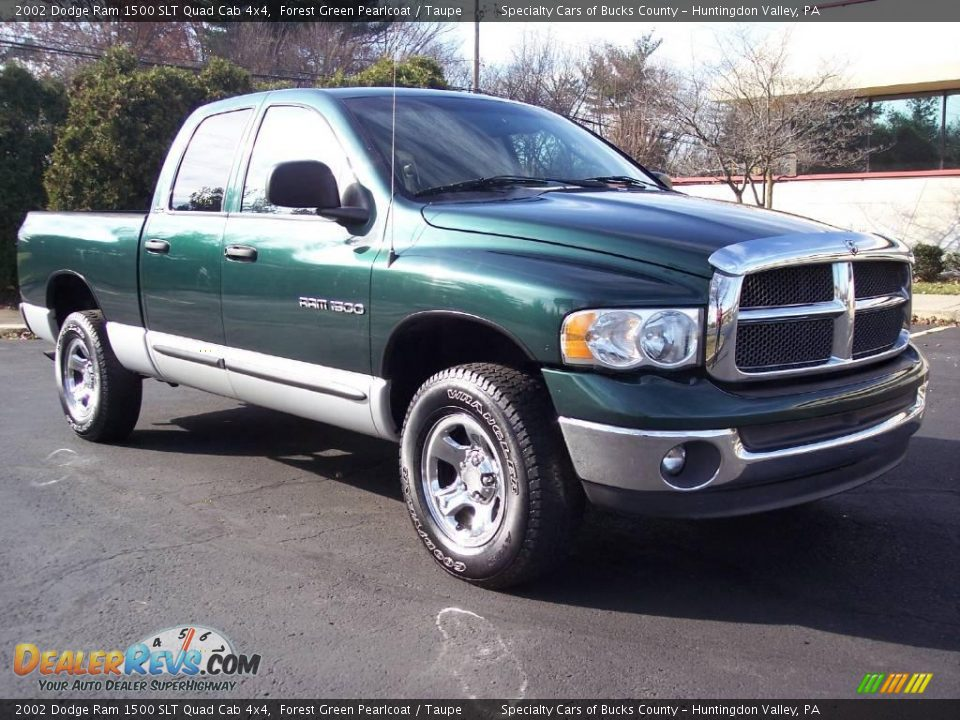 2002 dodge ram 1500 slt quad cab 4x4 forest green pearlcoat taupe photo 15. Black Bedroom Furniture Sets. Home Design Ideas