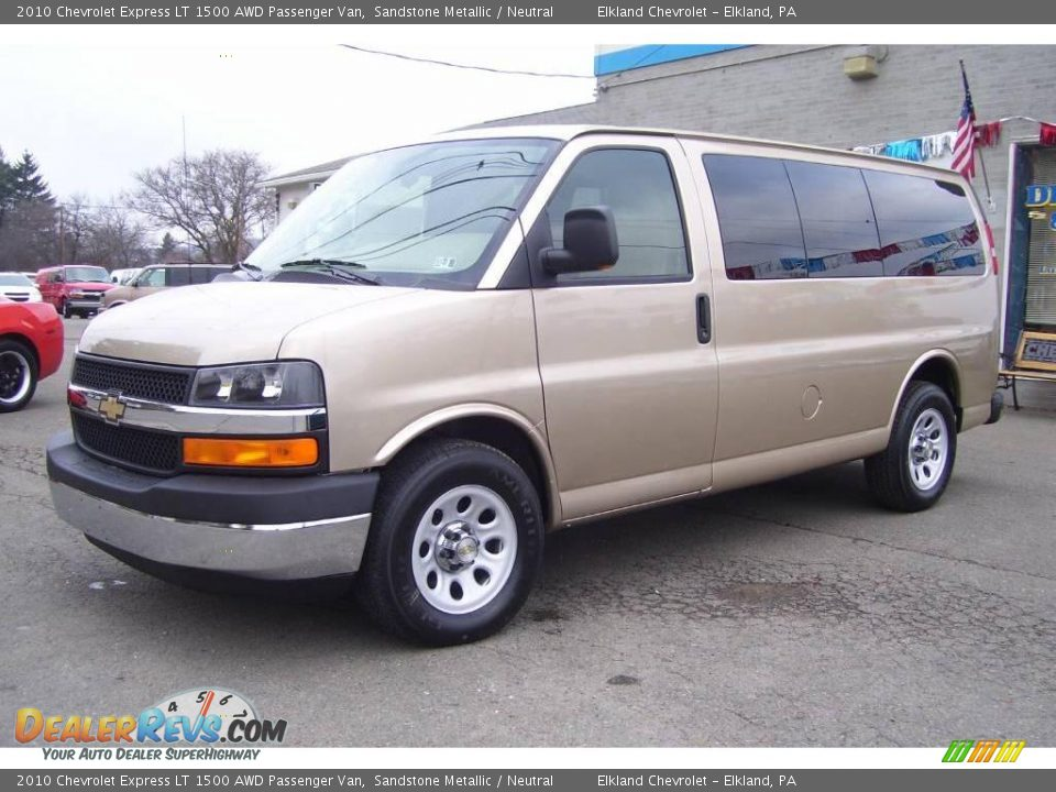 2010 chevrolet express lt 1500 awd passenger van sandstone metallic neutral photo 1. Black Bedroom Furniture Sets. Home Design Ideas