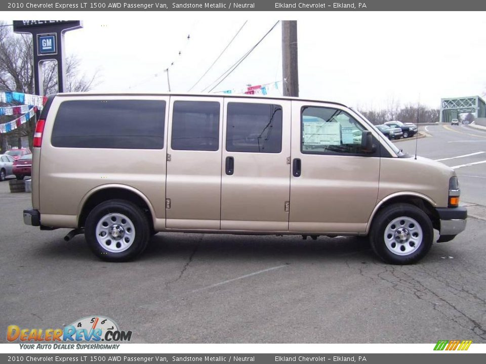 2010 chevrolet express lt 1500 awd passenger van sandstone metallic neutral photo 4. Black Bedroom Furniture Sets. Home Design Ideas