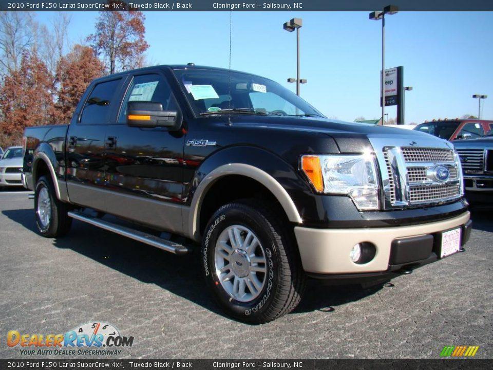 New Ford F150 >> 2010 Ford F150 Lariat SuperCrew 4x4 Tuxedo Black / Black ...