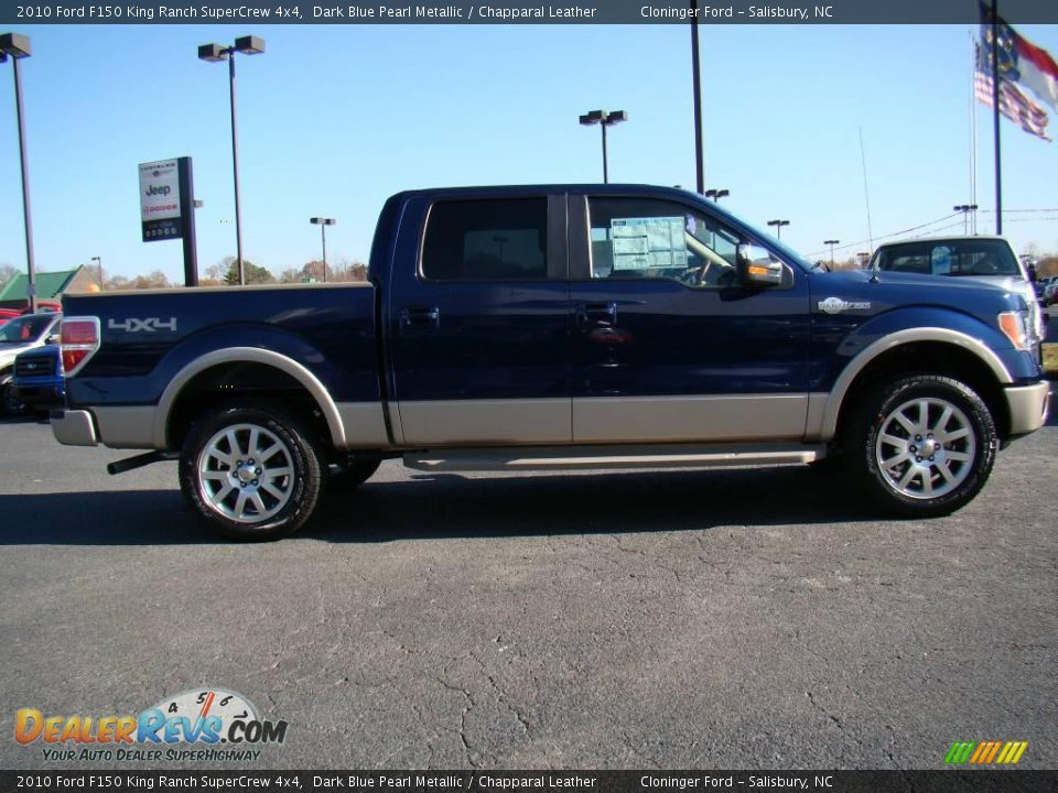 2010 Ford F150 King Ranch Supercrew 4x4 Dark Blue Pearl