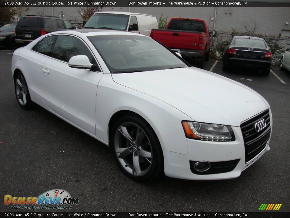 2009 audi a5 3 2 quattro coupe ibis white cinnamon brown. Black Bedroom Furniture Sets. Home Design Ideas