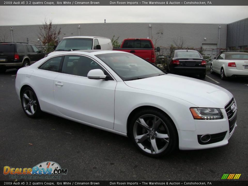 2009 Audi A5 3 2 Quattro Coupe Ibis White Cinnamon Brown