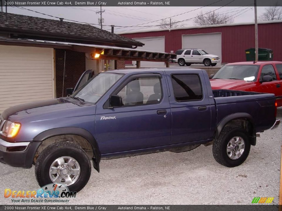 2000 nissan frontier xe crew cab 4x4 denim blue gray photo 2. Black Bedroom Furniture Sets. Home Design Ideas
