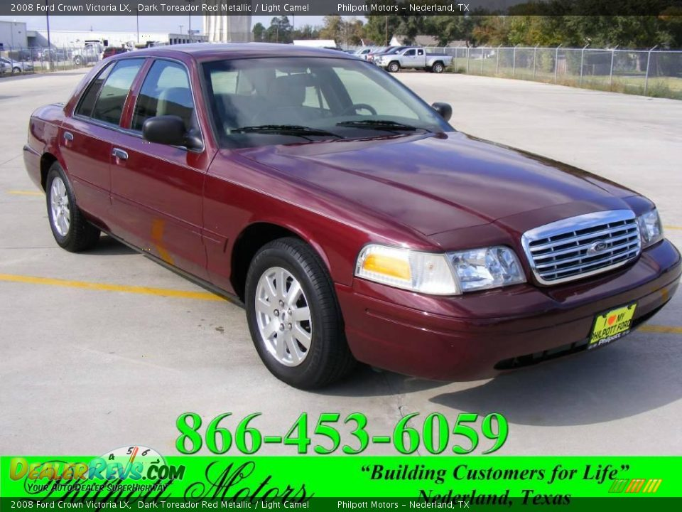 2008 ford crown victoria lx dark toreador red metallic for Crown motors ford redding