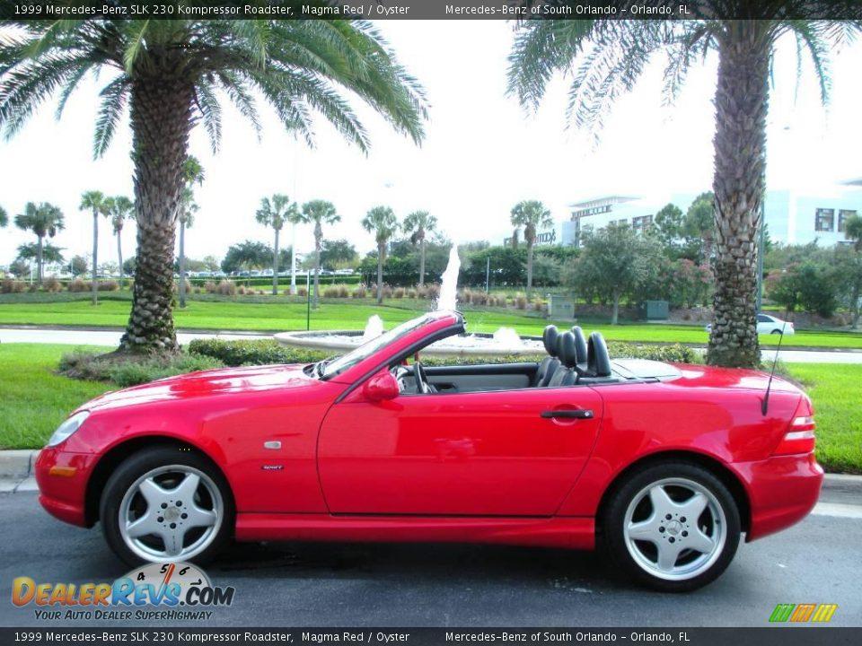 1999 mercedes benz slk 230 kompressor roadster magma red for Mercedes benz slk 230 kompressor 1999