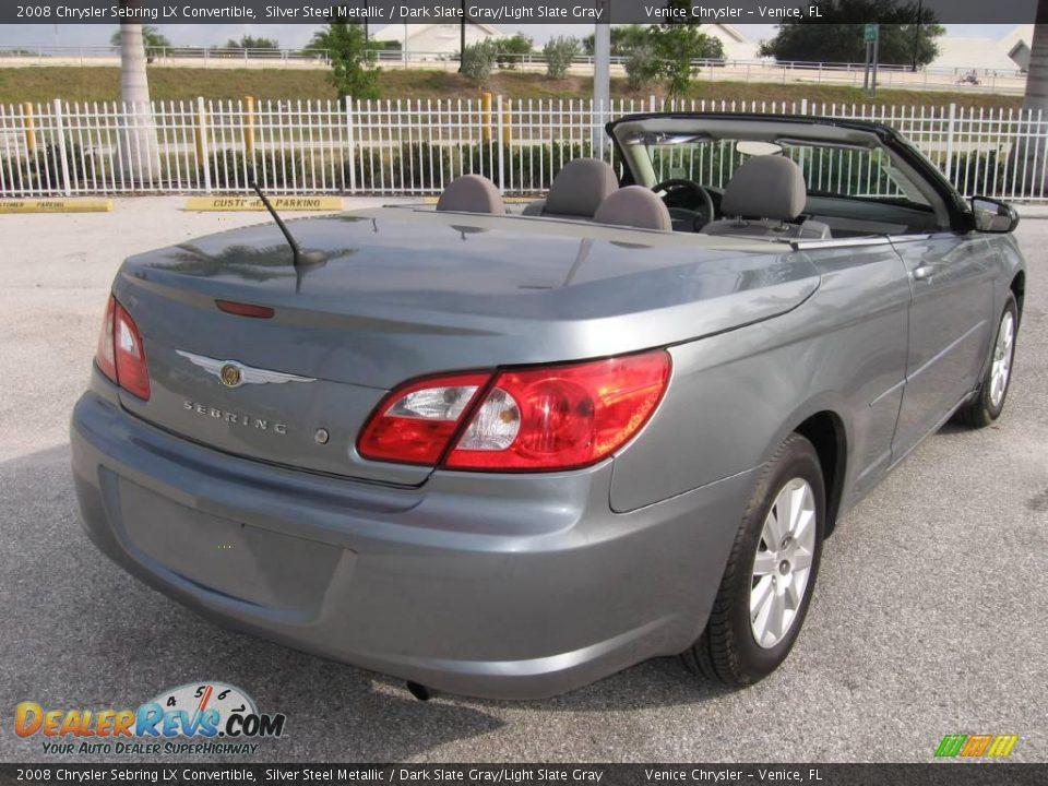 2008 Chrysler Sebring Lx Convertible Silver Steel Metallic