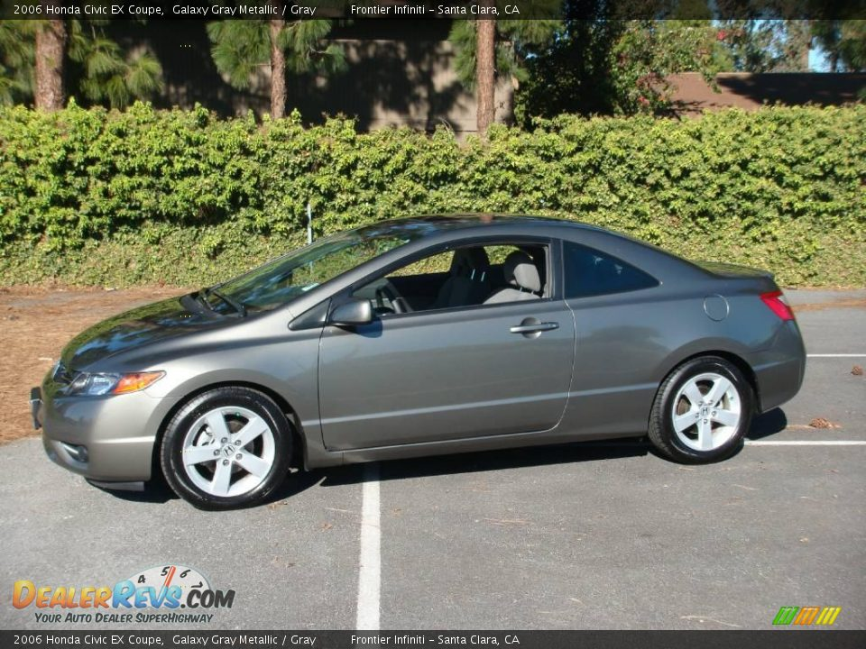 2006 honda civic ex coupe galaxy gray metallic gray photo 3. Black Bedroom Furniture Sets. Home Design Ideas