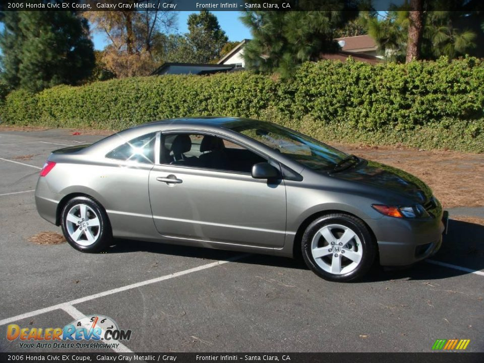 2006 honda civic ex coupe galaxy gray metallic gray photo 10. Black Bedroom Furniture Sets. Home Design Ideas