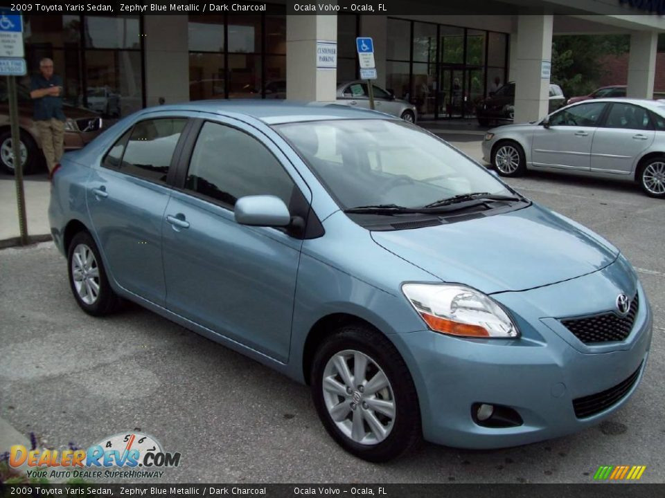 2009 toyota yaris sedan zephyr blue metallic dark. Black Bedroom Furniture Sets. Home Design Ideas