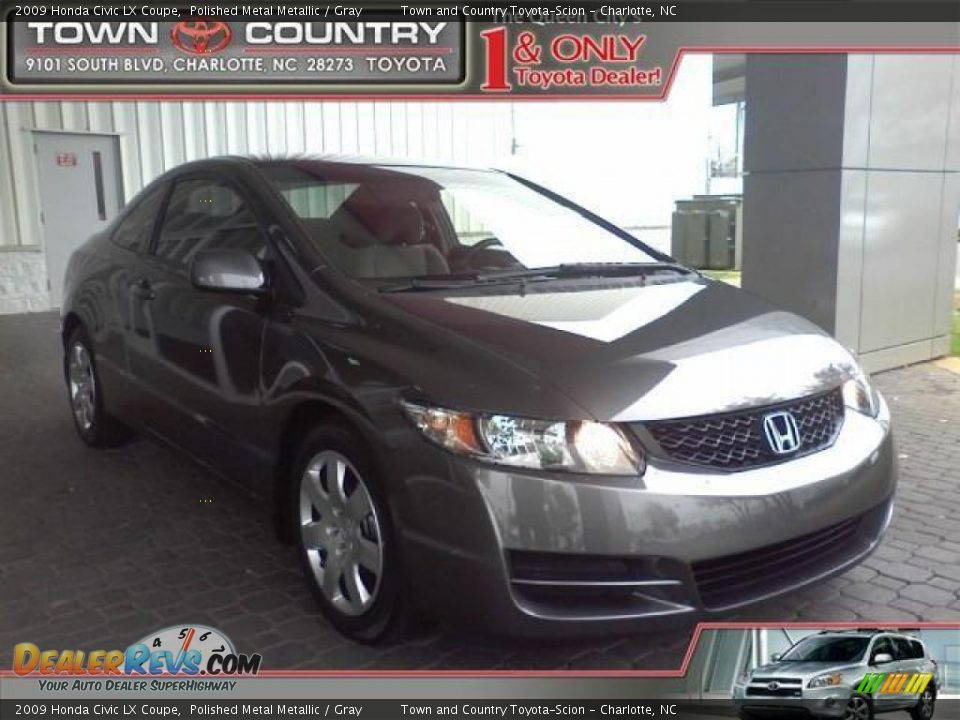 2009 honda civic lx coupe polished metal metallic gray photo 1. Black Bedroom Furniture Sets. Home Design Ideas