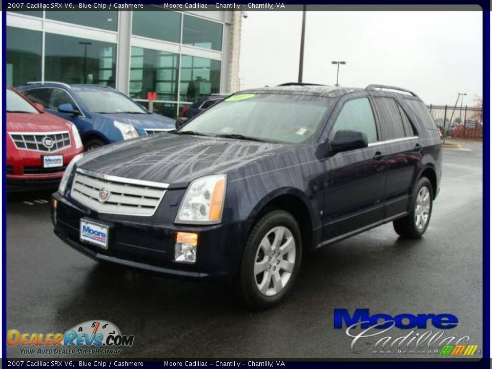 2007 Cadillac Srx V6 Blue Chip Cashmere Photo 1