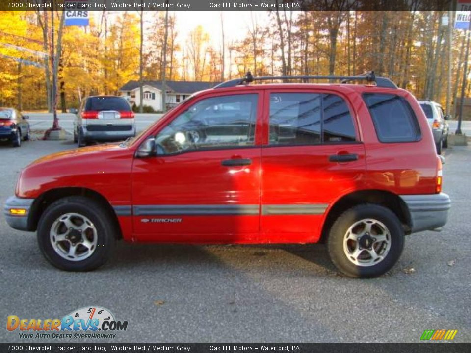 2000 chevrolet tracker hard top wildfire red medium gray. Black Bedroom Furniture Sets. Home Design Ideas