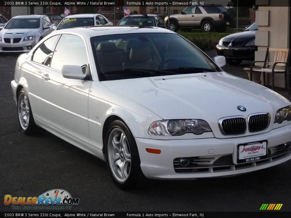 2003 bmw 3 series 330i coupe alpine white natural brown photo 1. Black Bedroom Furniture Sets. Home Design Ideas
