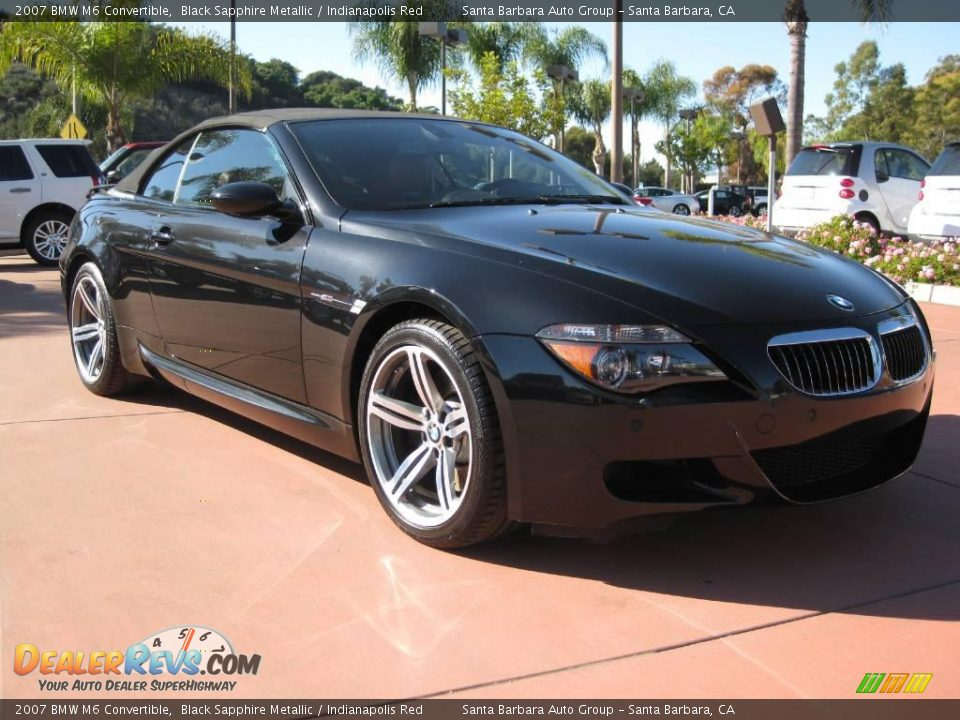 2007 BMW M6 Convertible Black Sapphire Metallic / Indianapolis Red