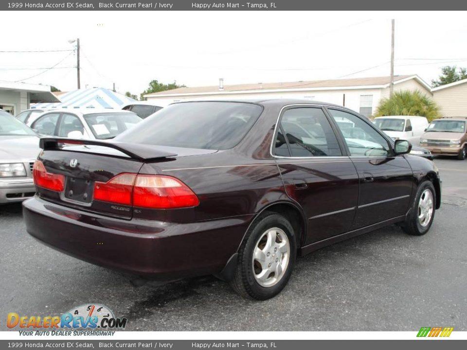 1999 Honda Accord Ex Sedan Black Currant Pearl Ivory