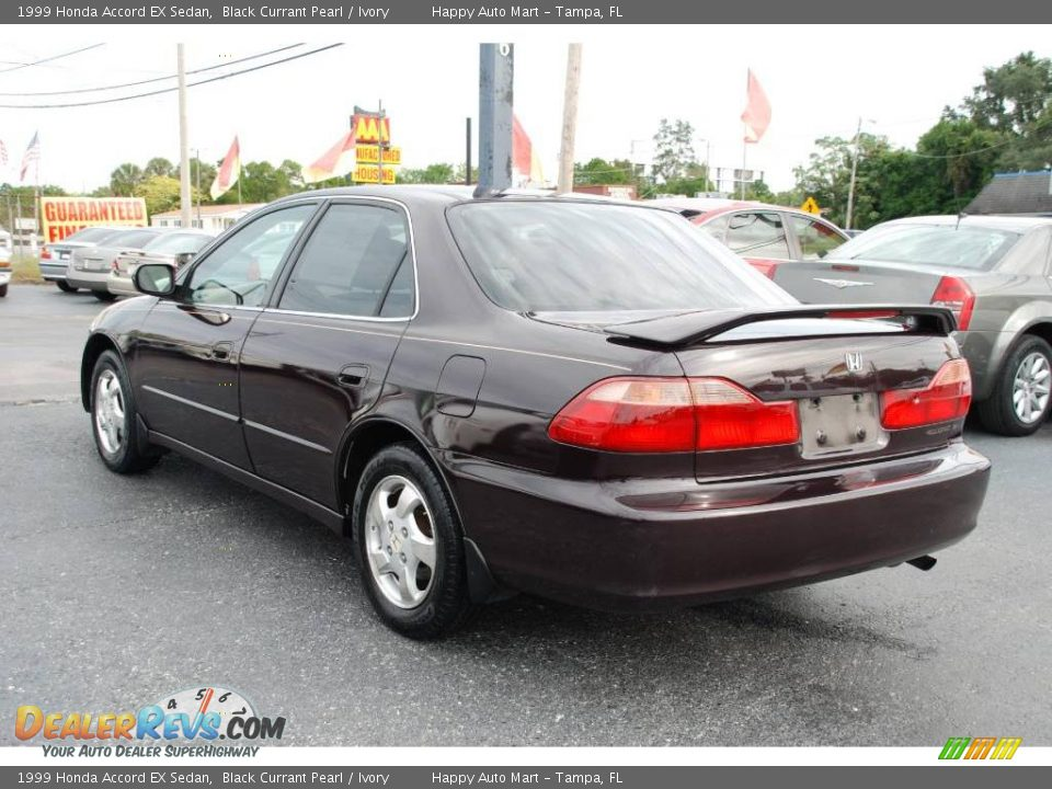 1999 Honda Accord Ex Sedan Black Currant Pearl Ivory