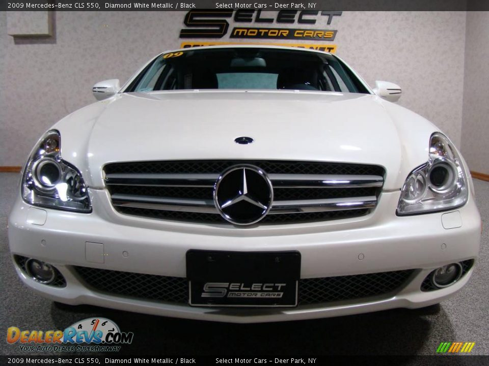 2009 mercedes benz cls 550 diamond white metallic black. Black Bedroom Furniture Sets. Home Design Ideas