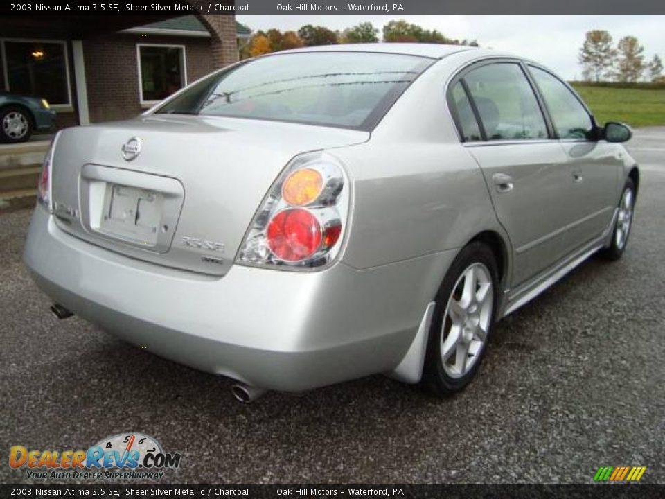 2003 Nissan Altima 3 5 Se Sheer Silver Metallic Charcoal