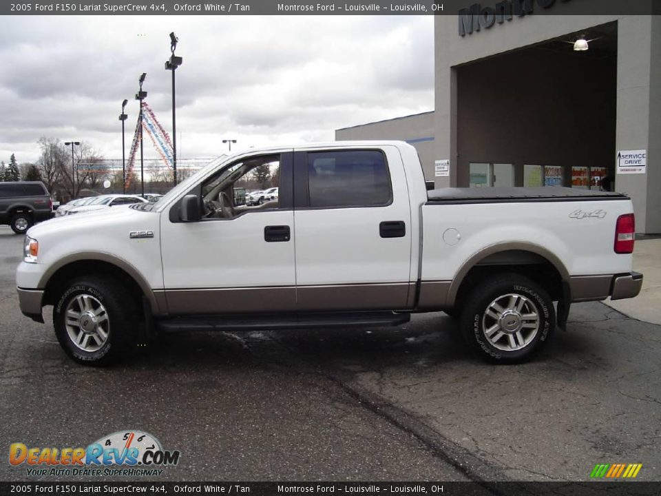 2005 ford f150 lariat supercrew 4x4 oxford white tan photo 2. Black Bedroom Furniture Sets. Home Design Ideas
