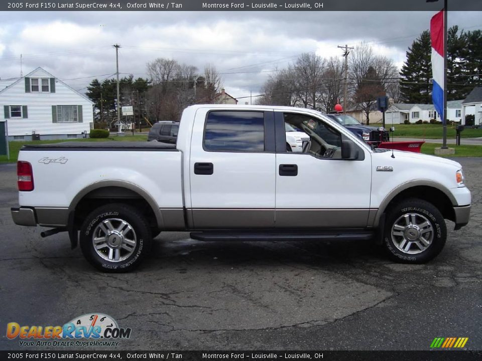 2005 ford f150 lariat supercrew 4x4 oxford white tan photo 6. Black Bedroom Furniture Sets. Home Design Ideas