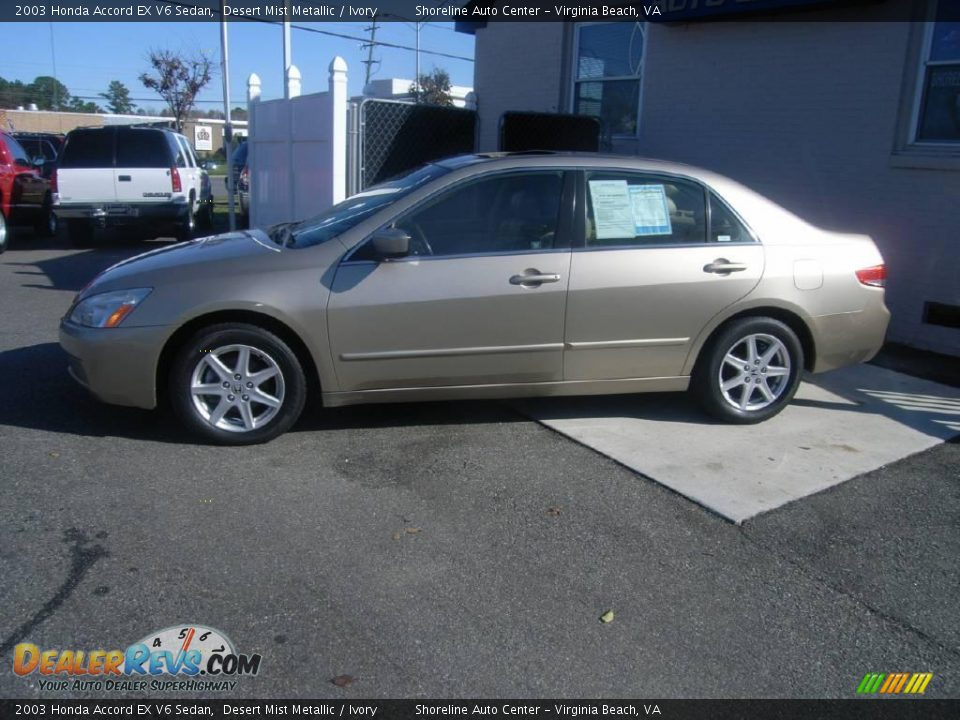 2003 honda accord ex v6 sedan desert mist metallic ivory. Black Bedroom Furniture Sets. Home Design Ideas