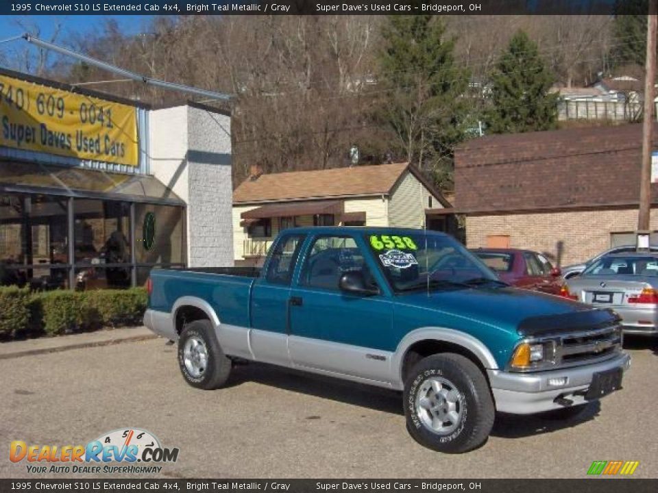 1995 chevrolet s10 ls extended cab 4x4 bright teal. Black Bedroom Furniture Sets. Home Design Ideas