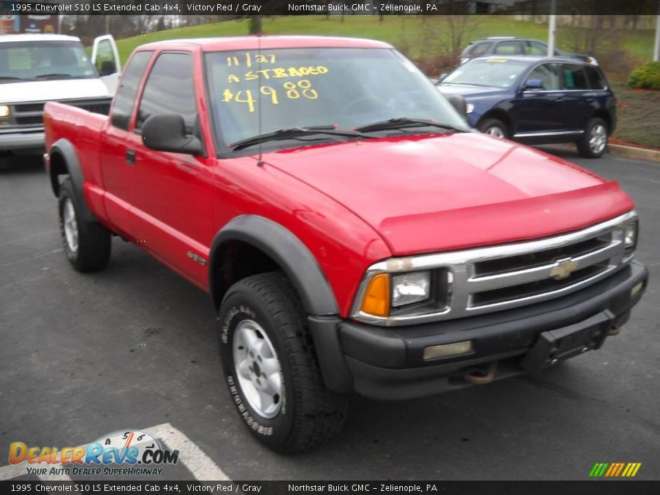 1995 chevrolet s10 ls extended cab 4x4 victory red gray photo 16. Black Bedroom Furniture Sets. Home Design Ideas