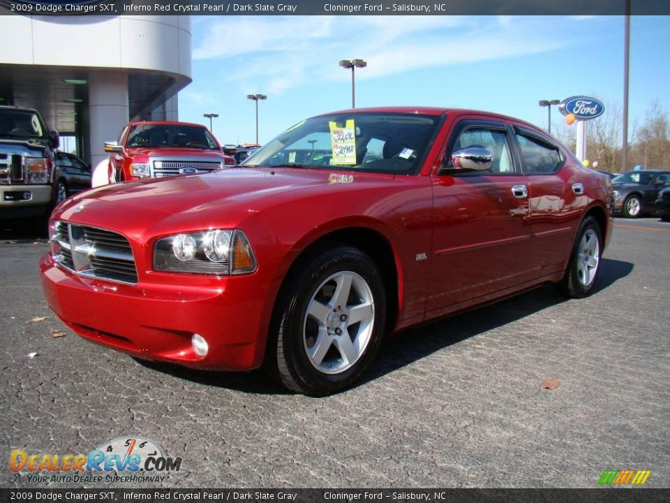 2009 dodge charger sxt inferno red crystal pearl dark. Black Bedroom Furniture Sets. Home Design Ideas