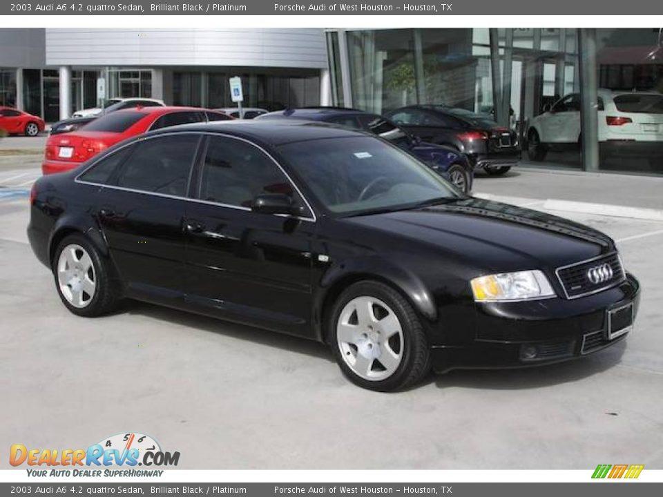 2003 audi a6 4 2 quattro sedan brilliant black platinum. Black Bedroom Furniture Sets. Home Design Ideas