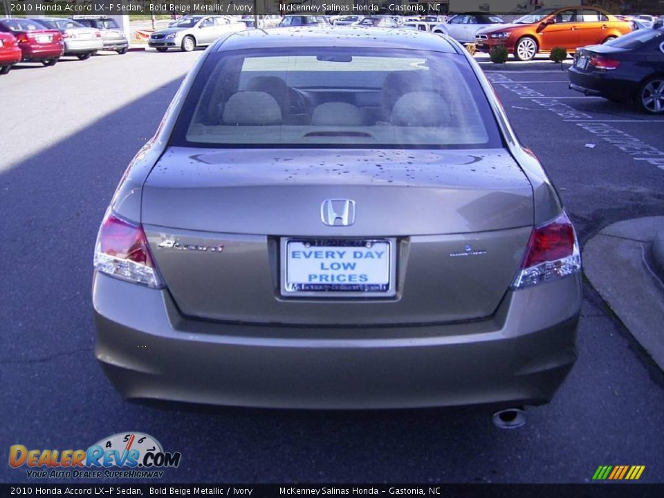 2010 honda accord lx p sedan bold beige metallic ivory. Black Bedroom Furniture Sets. Home Design Ideas