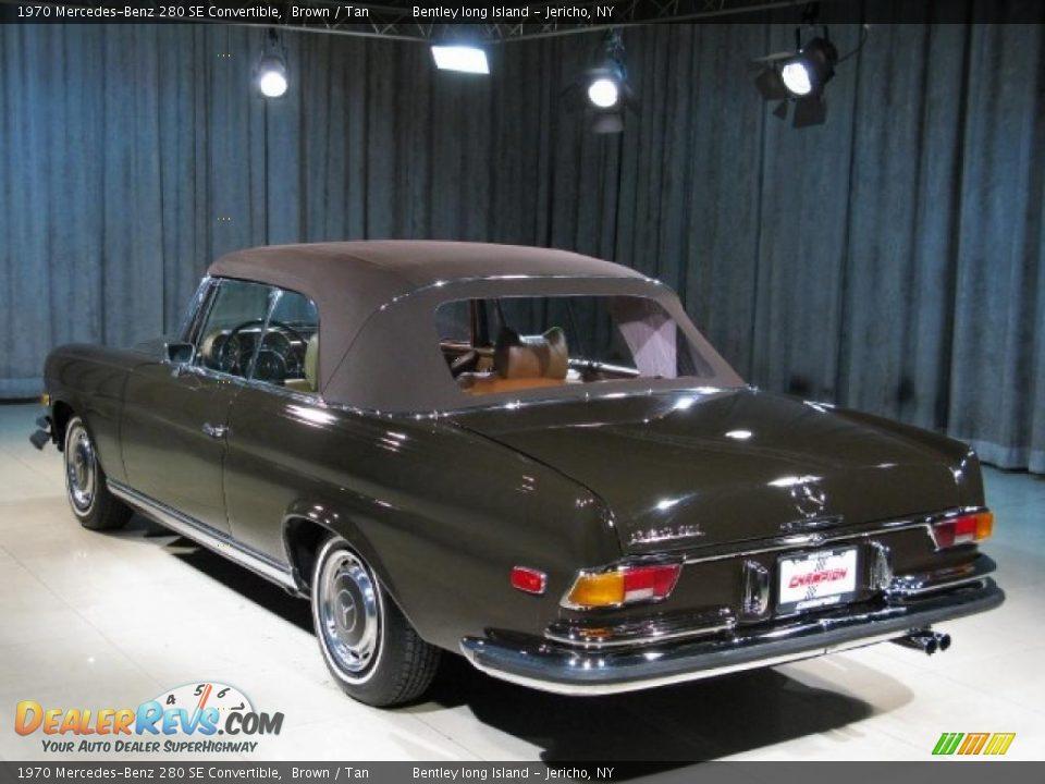 1970 mercedes benz 280 se convertible brown tan photo 2