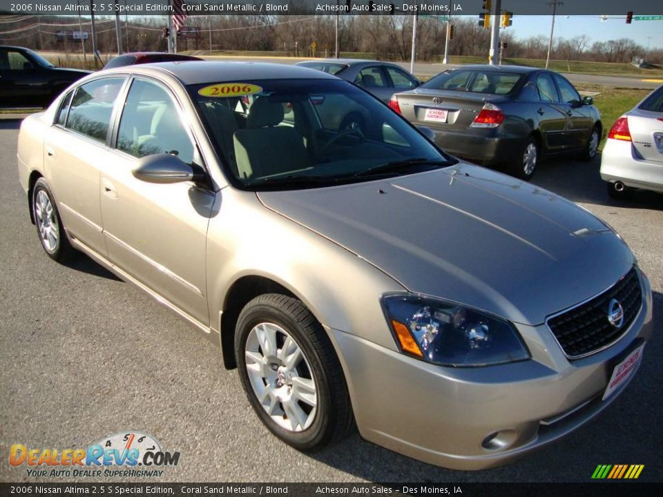 2006 nissan altima 2 5 s special edition coral sand. Black Bedroom Furniture Sets. Home Design Ideas