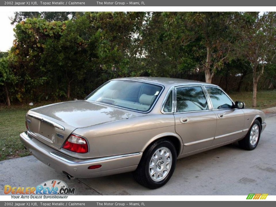 2002 Jaguar XJ XJ8 Topaz Metallic / Cashmere Photo #15