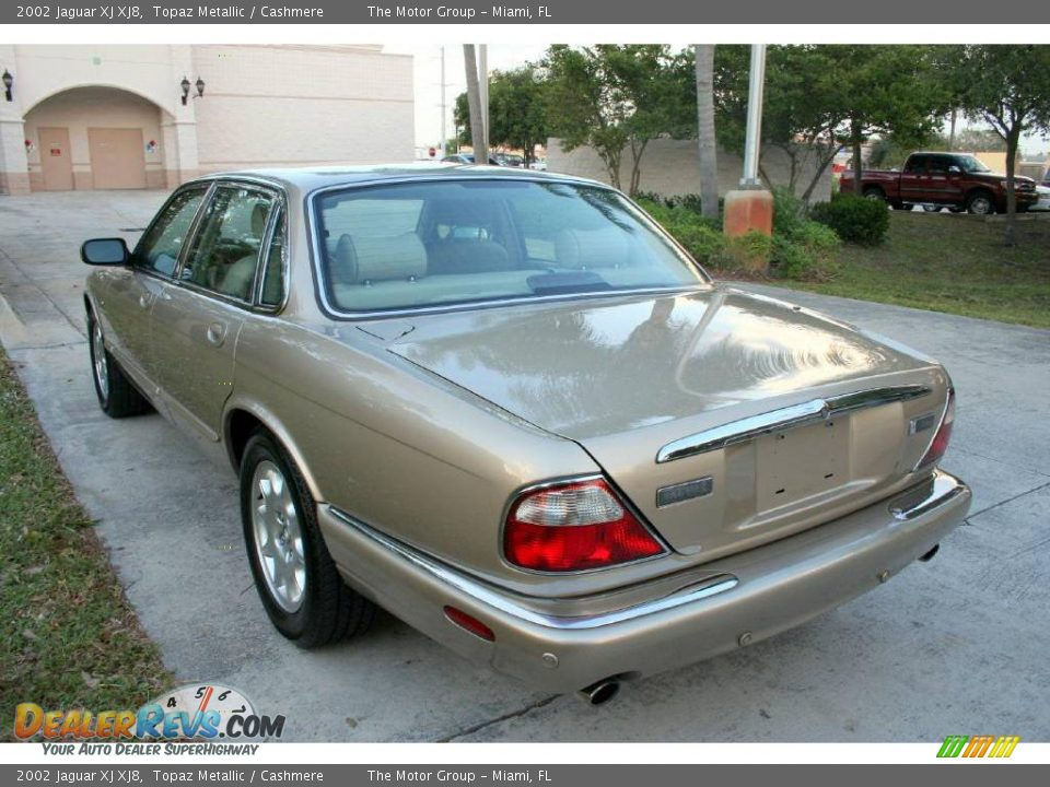 2002 Jaguar XJ XJ8 Topaz Metallic / Cashmere Photo #27