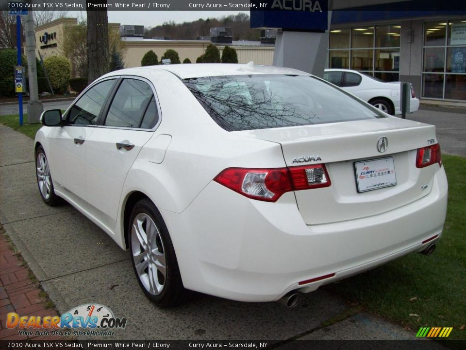 2010 acura tsx v6 sedan premium white pearl ebony photo. Black Bedroom Furniture Sets. Home Design Ideas