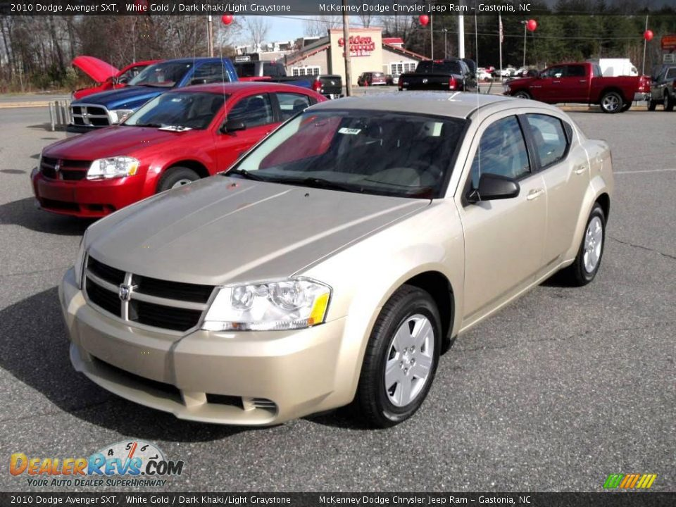 2010 dodge avenger sxt white gold dark khaki light. Black Bedroom Furniture Sets. Home Design Ideas