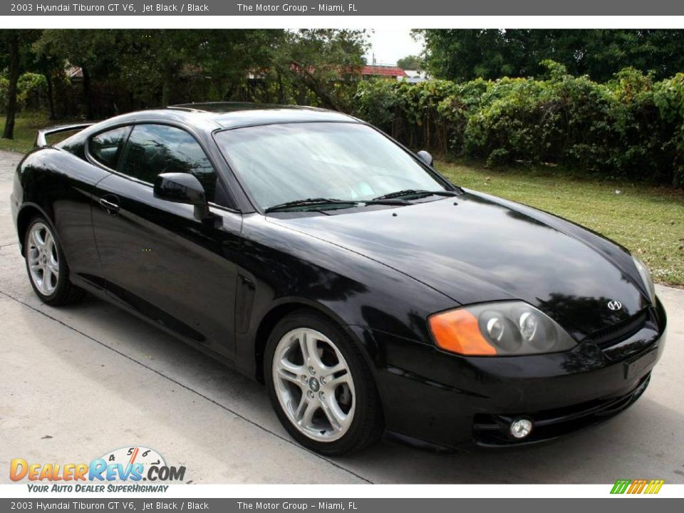 2003 hyundai tiburon gt v6 jet black black photo 8. Black Bedroom Furniture Sets. Home Design Ideas
