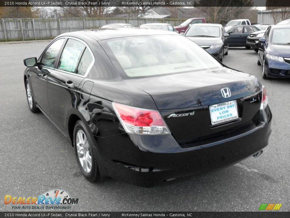 2010 honda accord lx p sedan crystal black pearl ivory. Black Bedroom Furniture Sets. Home Design Ideas